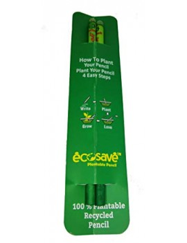 Ecosave Plantable Seed Pencils Pack of 2 For Kids Birthday Return Gift (20 Pencil)